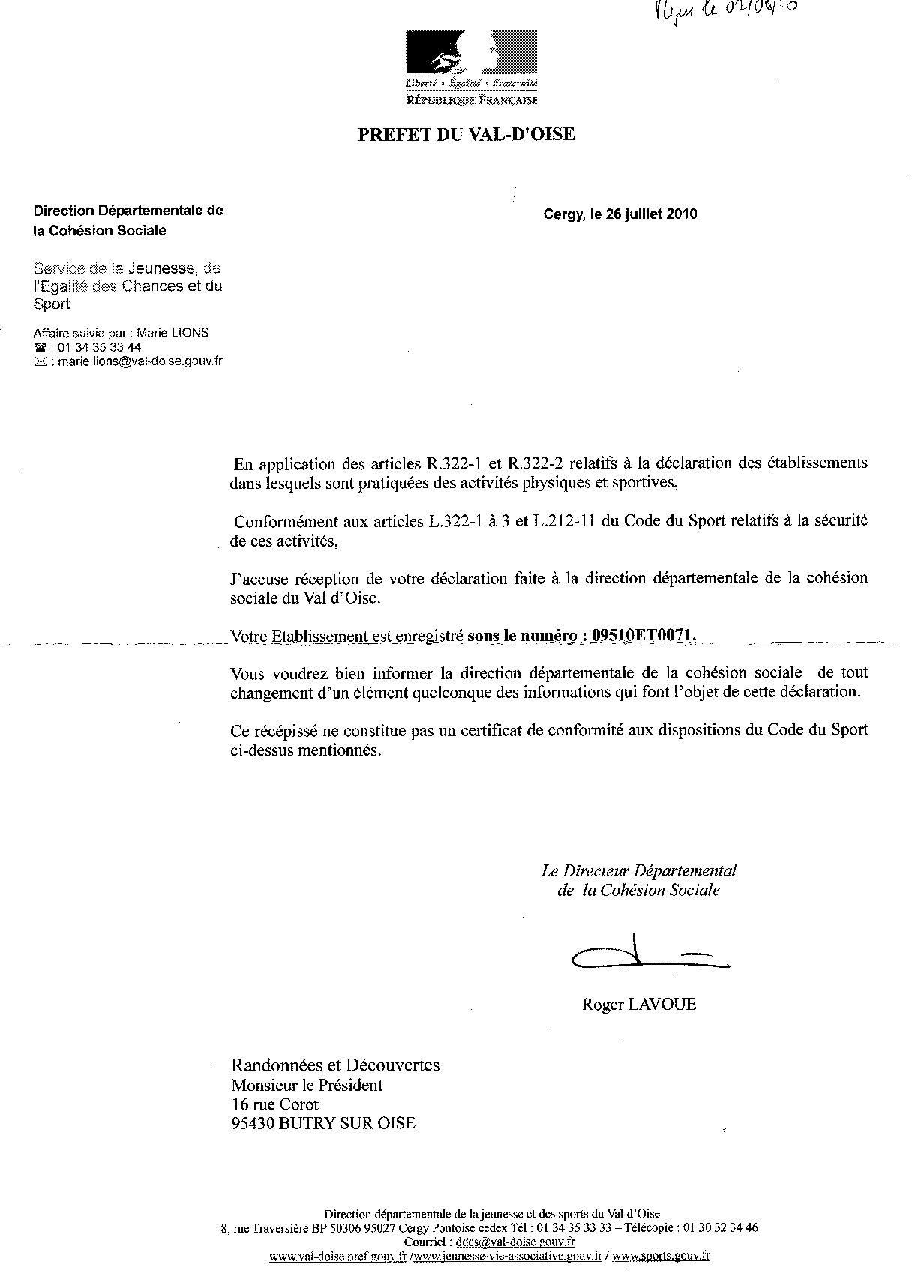 Bureau ca - Declaration bureau association prefecture ...